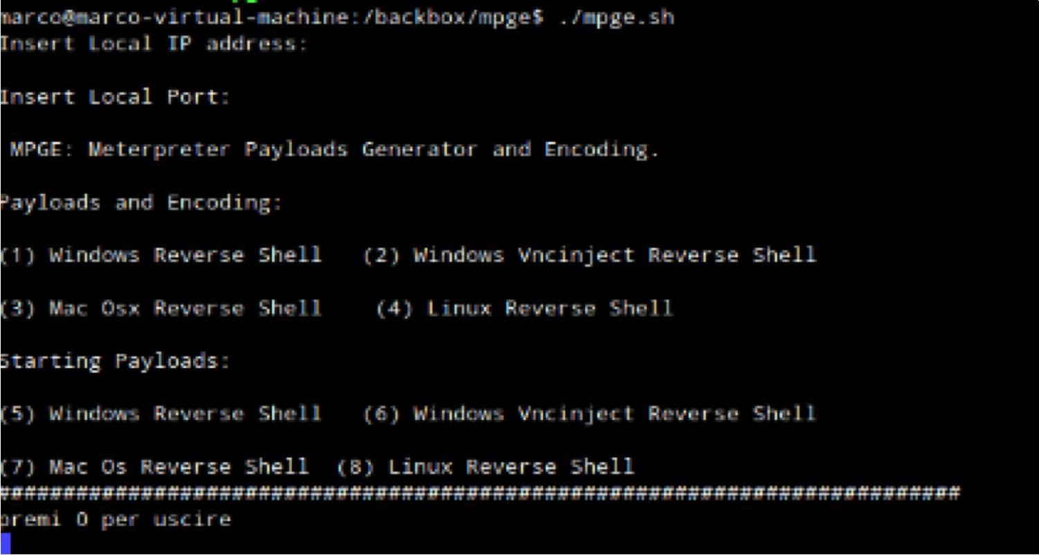 Mpge – a wrapper of msfpayload and msfencode of Metasploit